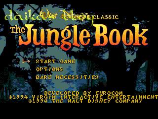 junggle book - sega genesis