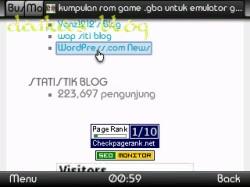 tampilan widget atau sidebar 2